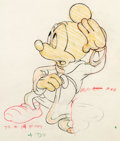 """Animation Art:Production Drawing, Fantasia """"Sorcerer's Apprentice"""" Mickey Mouse Animation Drawing (Walt Disney, 1940). ..."""