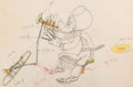 Animation Art:Production Drawing, Mickey's Amateurs Goofy Animation Drawing (Walt Disney,1937).. ...