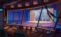Animation Art:Painted cel background, The Fantastic Four Background Color Key Group of 3 (MarvelFilms, 1994).... (Total: 3 )