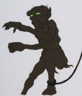 Animation Art:Production Cel, The Lord of the Rings Gollum Production Cel and Animation Drawing (Ralph Bakshi, 1978).... (Total: 2 )