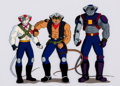 Animation Art:Production Cel, Biker Mice From Mars Production Cel Setup and AnimationDrawing (Marvel Films, 1995).. ... (Total: 4 )