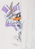 Animation Art:Production Drawing, Virgil Ross - Bugs Bunny and Daffy Duck Drawing (Warner Brothers,c. 1990s). ...