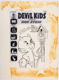 Original Comic Art:Covers, Warren Kremer Devil Kids Starring Hot Stuff #64 CoverOriginal Art (Harvey, 1974)....