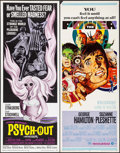 "Movie Posters:Exploitation, Psych-Out & Others Lot (American International, 1968). Inserts (4) (14"" X 36""). Exploitation.. ... (Total: 4 Items)"