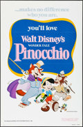 """Movie Posters:Animation, Pinocchio & Others Lot (Buena Vista, R-1978). One Sheets (4) (27"""" X 41"""") Flat Folded. Animation.. ... (Total: 4 Items)"""