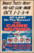 "Movie Posters:War, The Caine Mutiny (Columbia, 1954). Window Card (14"" X 22""). War....."