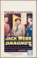 "Movie Posters:Crime, Dragnet (Warner Brothers, 1954). Window Card (14"" X 22""). Crime....."