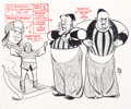 Animation Art:Production Drawing, Alex Toth Shazzan Model Sheet Drawing Original Art(Hanna-Barbera, 1967)....