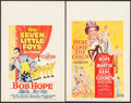 """Movie Posters:Musical, The Seven Little Foys & Others Lot (Paramount, 1955). Window Cards (2) (14"""" X 22""""). Musical.. ... (Total: 2 Items)"""