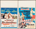 "Movie Posters:Adventure, The Snows of Kilimanjaro & Other Lot (20th Century Fox, 1952). Window Cards (2) (14"" X 22""). Adventure.. ... (Total: 2 Items)"