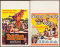 "Movie Posters:Adventure, Tarzan's Hidden Jungle & Other Lot (RKO, 1955). Window Cards(2) (14"" X 22""). Adventure.. ... (Total: 2 Items)"