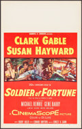 "Movie Posters:Adventure, Soldier of Fortune (20th Century Fox, 1955). Window Card (14"" X22""). Adventure.. ..."