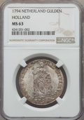 Netherlands:Holland, Netherlands: Holland Gulden 1794 MS63 NGC,...