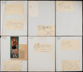 Basketball Collectibles:Others, 1959 Cincinnati Royals Signed Sheets....
