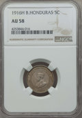 British Honduras:British Colony, British Honduras: British Colony. George V 5 Cents 1916-H AU58 NGC,...