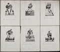 Football Collectibles:Photos, 1959 San Francisco 49ers Team Issue Complete Set (47). ...