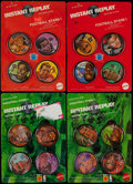 Basketball Collectibles:Others, 1971 Mattel Instant Replay 4-Pack Lot of 4 With Maravich,Chamberlain and West....