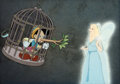 Animation Art:Production Cel, Pinocchio Production/Color Model Cel Setup (Walt Disney,1940)....