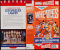 Basketball Collectibles:Others, 1987-88 Los Angeles Lakers Multi-Signed Wheaties Box. ...