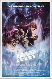 "The Empire Strikes Back (20th Century Fox, 1980). One Sheet (27"" X 41""). Studio Version Style A. Science Ficti..."