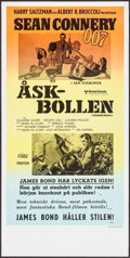 "Movie Posters:James Bond, Thunderball (United Artists, 1965). Swedish Insert (12.5"" X25.25""). James Bond.. ..."