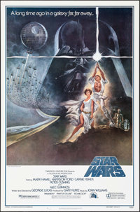 "Star Wars (20th Century Fox, 1977). First Printing One Sheet (27"" X 41"") Style A. Science Fiction"