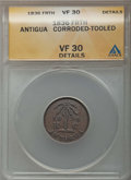 Antigua & Barbuda, Antigua & Barbuda: British Administration Farthing 1836 VF30Details (Corroded Tooled) ANACS,...