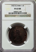 British East Caribbean Territories, British East Caribbean Territories: British Colony. Elizabeth II Proof 2 Cents 1960 PR63 Red and Brown NGC,...