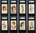 """Non-Sport Cards:Sets, 1890's Kimballs N110 """"French Novelties"""" & N111 """"Gems of Beauty"""" Near Sets Pair (2). ..."""