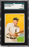 Baseball Cards:Singles (Pre-1930), 1912 T227 Miners Extra Ty Cobb SGC 35 Good+ 2.5....