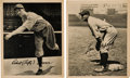 Baseball Cards:Lots, 1934 Butterfingers Premiums Lou Gehrig & Lefty Grove Pair (2)....