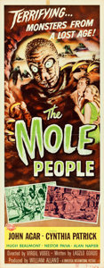 "Movie Posters:Science Fiction, The Mole People (Universal International, 1956). Insert (14"" X36""). Reynold Brown Artwork.. ..."