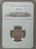 British Honduras:British Colony, British Honduras: British Colony. George VI 5 Cents 1939 MS64 NGC,...
