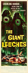 "Movie Posters:Horror, The Giant Leeches (American International, 1959). Insert (14"" X36"").. ..."