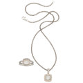 Estate Jewelry:Suites, Mother-of-Pearl, Diamond, Sterling Silver Jewelry Suite, David Yurman. ... (Total: 2 Items)