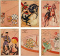 "Non-Sport Cards:Sets, 1930s R194 Goudey ""Our Gang Gum"" Circus Puzzles Partial Set (17/25)Plus Two Extras. ..."