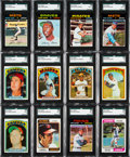 Baseball Cards:Sets, 1971-74 Topps Baseball Mid To High Grade Complete or Near Sets (3)....