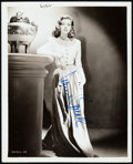 """Movie Posters, Lauren Bacall (Warner Brothers, Mid-1940s). Autographed Photo (8"""" X10"""").. ..."""