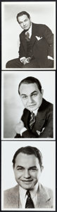 "Movie Posters:Miscellaneous, Edward G. Robinson Lot (Warner Brothers, 1930s-1940s). PortraitPhotos (3) (8"" X 10"").. ... (Total: 3 Items)"