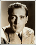 "Movie Posters:Miscellaneous, Humphrey Bogart (Warner Brothers, 1940s). Secretary Signed PortraitPhoto (11"" X 14"").. ..."