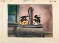 Animation Art:Presentation Cel, Hitch Hikers Production Cel and Key Master Background(Terrytoons, 1947)....