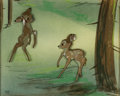 Animation Art:Production Cel, Bambi Faline and Bambi Production Cel Courvoisier Setup(Walt Disney, 1942)....