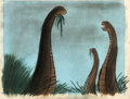 "Animation Art:Concept Art, Fantasia ""Rite of Spring"" Dinosaurs Concept Art (Walt Disney, 1940)...."