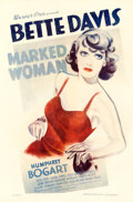 """Movie Posters:Crime, Marked Woman (Warner Brothers, 1937). One Sheet (27"""" X 41"""").. ..."""