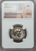Ancients:Roman Provincial , Ancients: EGYPT. Alexandria. Antoninus Pius (AD 138-161). BItetradrachm. NGC XF....