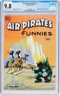 Air Pirates Funnies #2 (Hell Comics Group, 1971) CGC NM/MT 9.8 Off-white to white pages