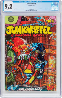 Junkwaffel #1 (Print Mint, 1971) CGC NM- 9.2 White pages