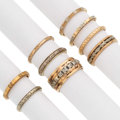 Estate Jewelry:Rings, Diamond, Gold Wedding Bands. ... (Total: 9 Items)