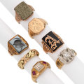 Estate Jewelry:Rings, Gentleman's Diamond, Multi-Stone, Gold Rings . ... (Total: 7 Items)