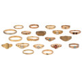 Estate Jewelry:Rings, Diamond, Multi-Stone, Gold Rings. ... (Total: 20 Items)